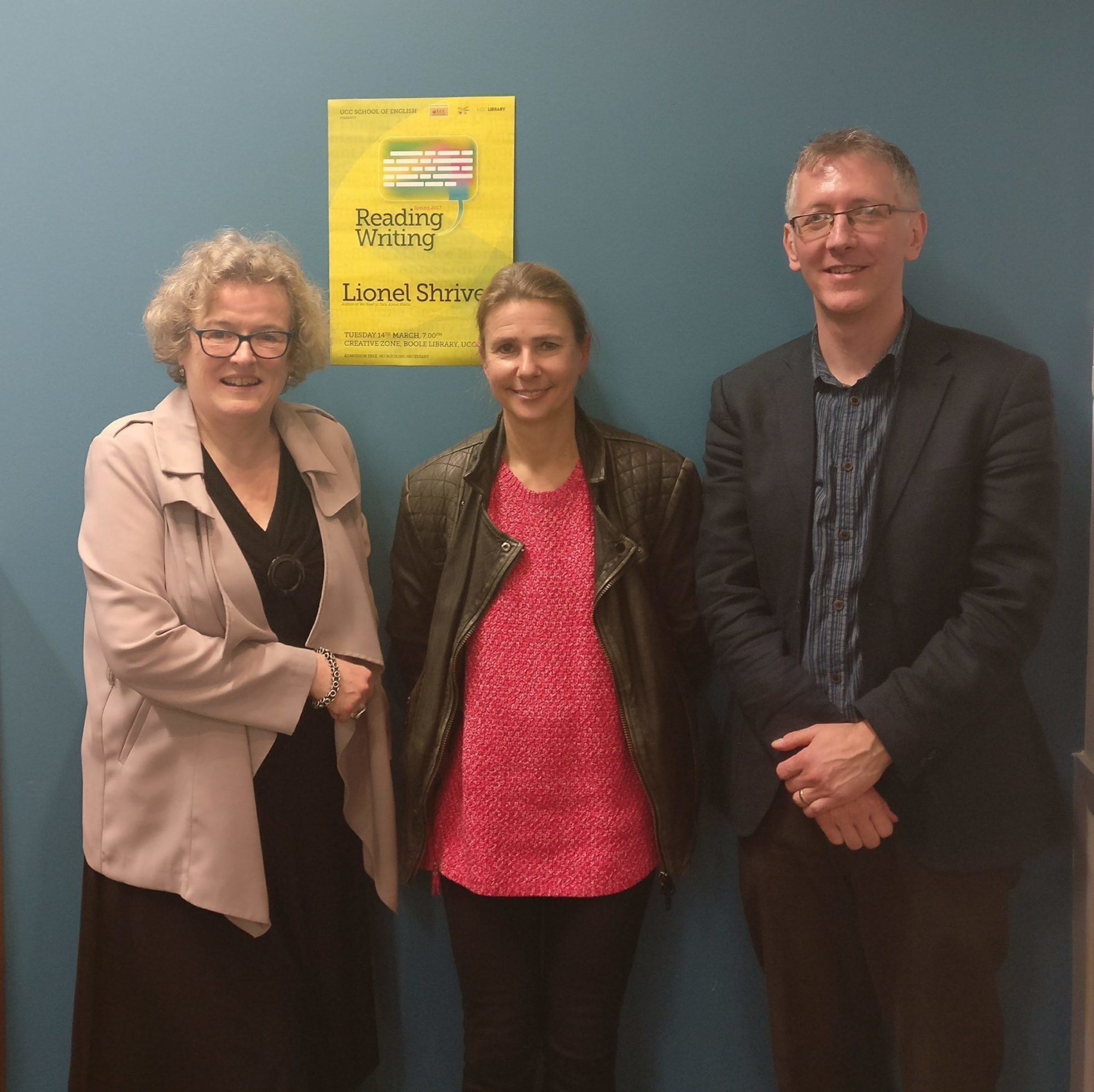 Lionel Shriver With, Left, Associate Director Of Creative Writing, Mary  Morrissy, And Associate Dean Of Graduate Studies, Dr Alan Gibbs